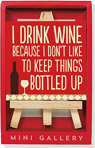 Wine: Artwork With Mini Easel Gift Set: Peter Pauper Press (Corporate Author)
