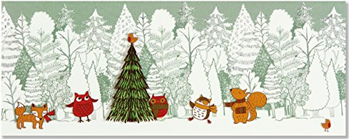 Woodland Friends Panoramic Boxed Holiday Cards (Christmas Cards, Holiday Cards, Greeting Cards): ...