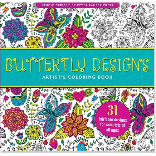 9781441318381: Butterfly Designs Adult Coloring Book (31 stress-relieving designs) (Studio)