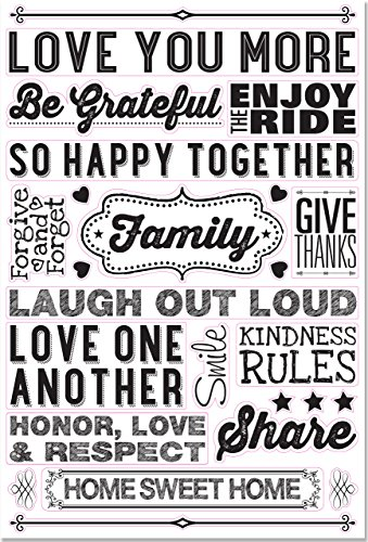 9781441319104: Family Rules Peel & Stick Wall Decal Set (25 removable vinyl wall decals)