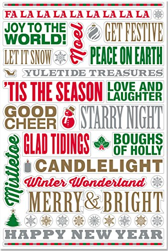 9781441319111: Holiday Peel & Stick Wall Decal Set (38 removable vinyl wall decals, Christmas)