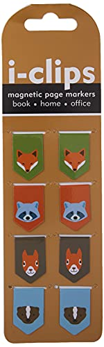 9781441319173: Woodland Friends i-clip Magnetic Page Markers (Set of 8 Magnetic Bookmarks)