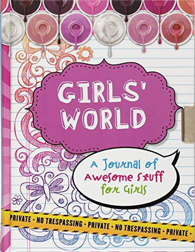 Girl's World Locking Journal (Diary, Notebook): Cynthia Scher