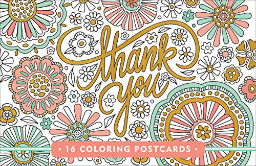 Thank You Coloring Postcards