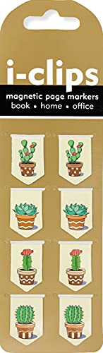 9781441324412: Succulents i-Clips Magnetic Page Markers (Set of 8 Magnetic Bookmarks)