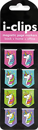9781441324429: Unicorns i-Clips Magnetic Page Markers (Set of 8 Magnetic Bookmarks)