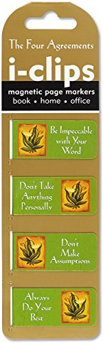 The Four Agreements i-Clips Magnetic Page Markers 9781441324771 Be reminded of The Four Agreements as you read and work, at home, in the office, or on the go. Based on don Miguel Ruiz' bestselling boo