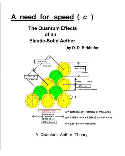 9781441401328: A Need For Speed ( C ): The Quantum Effects Of An Elastic-Solid Aether