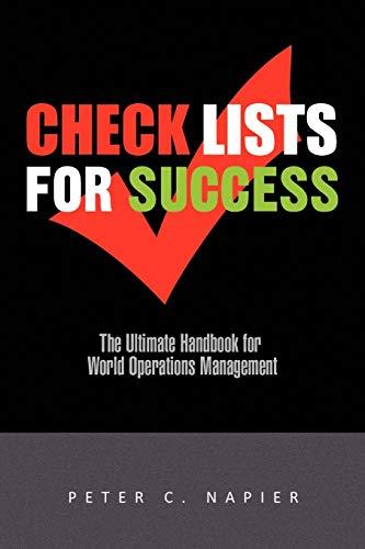 CHECK LISTS FOR SUCCESS: Napier, Peter C.
