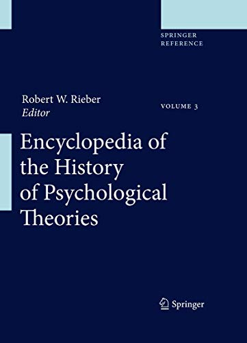 9781441904645: Encyclopedia of the History of Psychological Theories