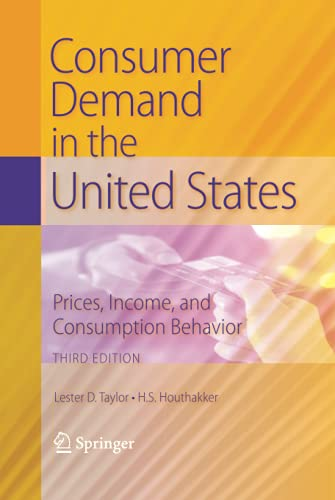 9781441905093: Consumer Demand in the United States: Prices, Income, and Consumption Behavior