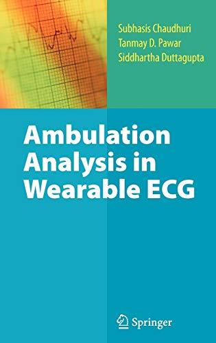 9781441907233: Ambulation Analysis in Wearable ECG