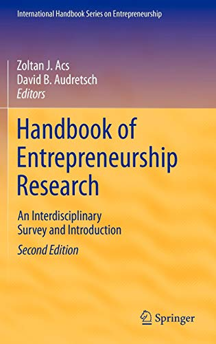Handbook of Entrepreneurship Research (Hardback)