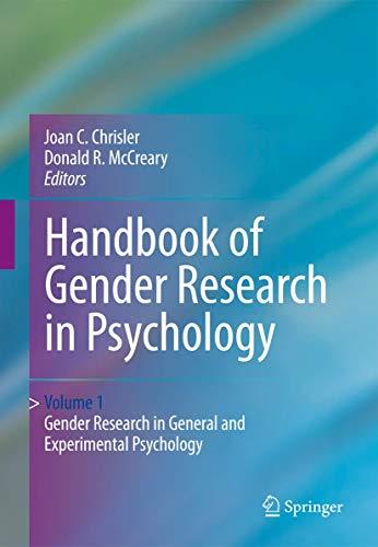 9781441913555: Handbook of Gender Research in Psychology