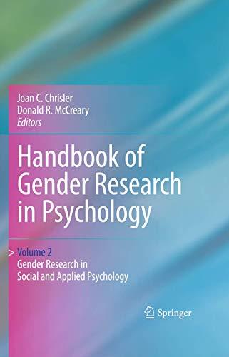 9781441914668: Handbook of Gender Research in Psychology: Gender Research in Social and Applied Psychology