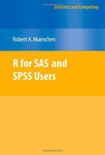 9781441918543: R for SAS and SPSS Users (Statistics and Computing)