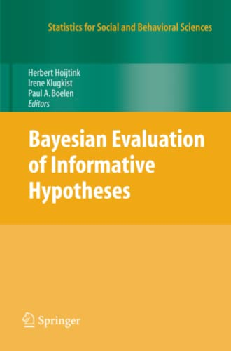 9781441918741: Bayesian Evaluation of Informative Hypotheses (Statistics for Social and Behavioral Sciences)