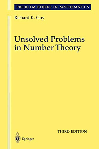 9781441919281: Unsolved Problems in Number Theory (Problem Books in Mathematics)