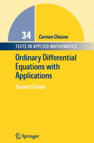 9781441921512: Ordinary Differential Equations with Applications (Texts in Applied Mathematics)