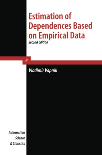 9781441921581: Estimation of Dependences Based on Empirical Data (Information Science and Statistics)