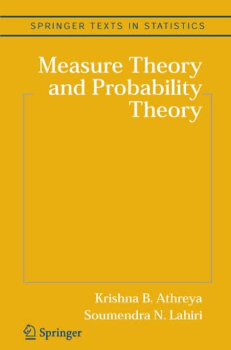 9781441921918: Measure Theory and Probability Theory (Springer Texts in Statistics)