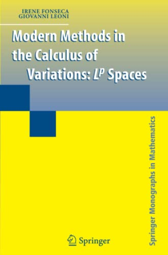9781441922601: Modern Methods in the Calculus of Variations: L^p Spaces (Springer Monographs in Mathematics)