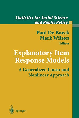 9781441923233: Explanatory Item Response Models: A Generalized Linear and Nonlinear Approach (Statistics for Social and Behavioral Sciences)