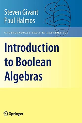 9781441923240: Introduction to Boolean Algebras (Undergraduate Texts in Mathematics)