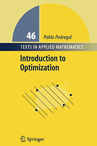 9781441923349: Introduction to Optimization (Texts in Applied Mathematics)