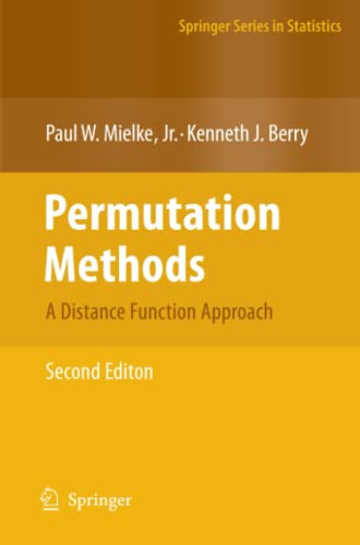9781441924162: Permutation Methods: A Distance Function Approach (Springer Series in Statistics)