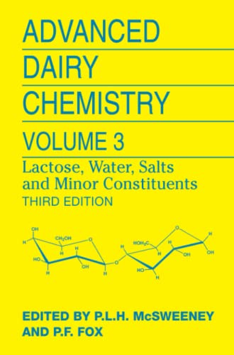 9781441927422: Advanced Dairy Chemistry: Volume 3: Lactose, Water, Salts and Minor Constituents