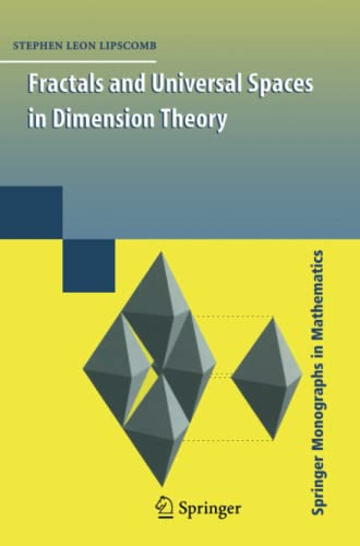 9781441927514: Fractals and Universal Spaces in Dimension Theory (Springer Monographs in Mathematics)