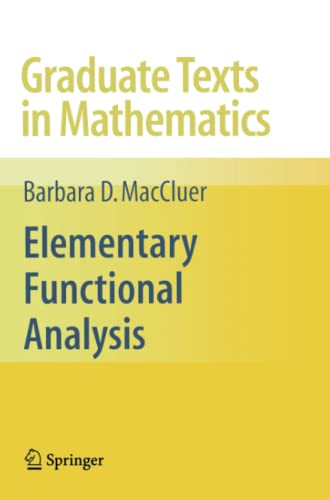 9781441927538: Elementary Functional Analysis (Graduate Texts in Mathematics)
