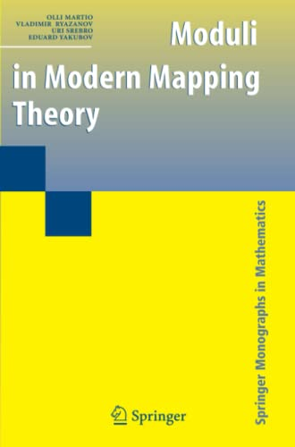 9781441927552: Moduli in Modern Mapping Theory (Springer Monographs in Mathematics)