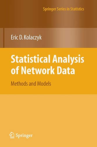 9781441927767: Statistical Analysis of Network Data: Methods and Models (Springer Series in Statistics)