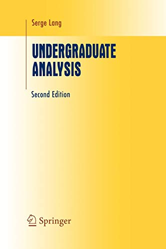 9781441928535: Undergraduate Analysis