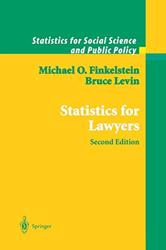 9781441928610: Statistics for Lawyers (Statistics for Social and Behavioral Sciences)