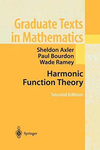 9781441929112: Harmonic Function Theory (Graduate Texts in Mathematics)