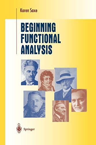 9781441929143: Beginning Functional Analysis (Undergraduate Texts in Mathematics)
