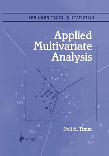 9781441929631: Applied Multivariate Analysis (Springer Texts in Statistics)