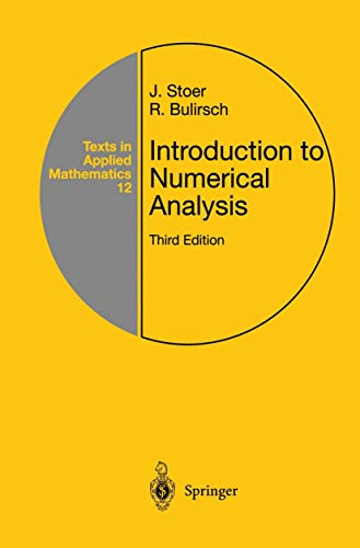 9781441930064: Introduction to Numerical Analysis (Texts in Applied Mathematics)