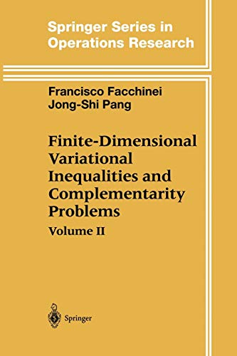 9781441930644: Finite-Dimensional Variational Inequalities and Complementarity Problems (Springer Series in Operations Research and Financial Engineering)