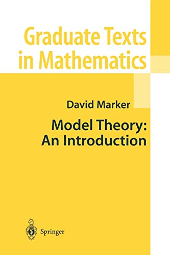 9781441931573: Model Theory: An Introduction (Graduate Texts in Mathematics)