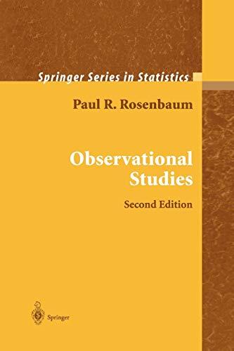 9781441931917: Observational Studies (Springer Series in Statistics)