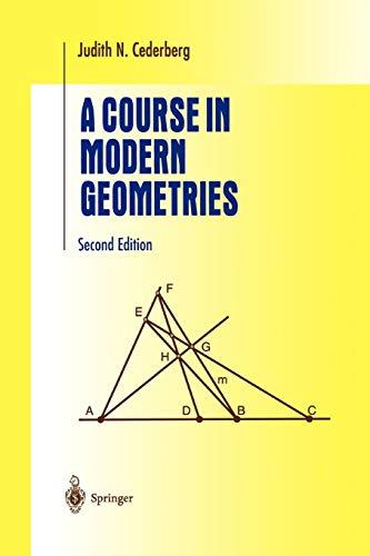 9781441931931: A Course in Modern Geometries (Undergraduate Texts in Mathematics)