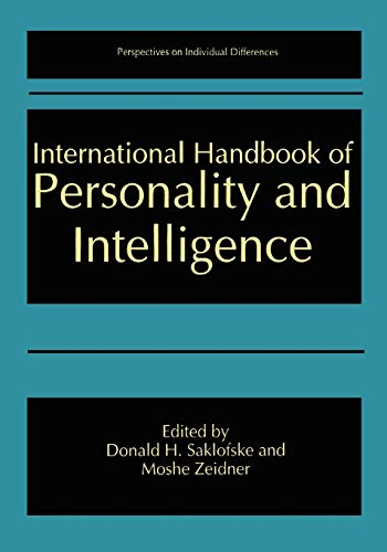9781441932396: International Handbook of Personality and Intelligence (Perspectives on Individual Differences)