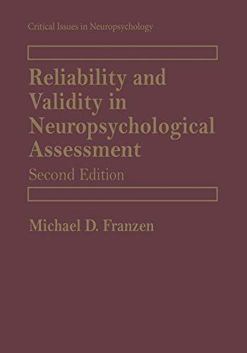 9781441933416: Reliability and Validity in Neuropsychological Assessment (Critical Issues in Neuropsychology)