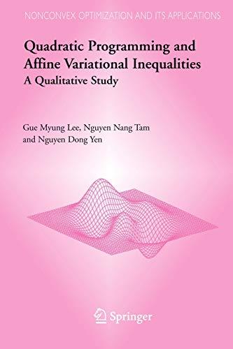 Quadratic Programming and Affine Variational Inequalities: A Qualitative Study (Nonconvex ...