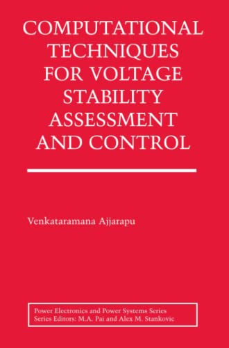 9781441938626: Computational Techniques for Voltage Stability Assessment and Control (Power Electronics and Power Systems)