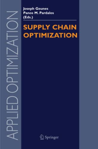 9781441938800: Supply Chain Optimization (Applied Optimization)